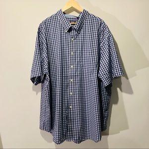 Izod men's short sleeve plaid button down shirt